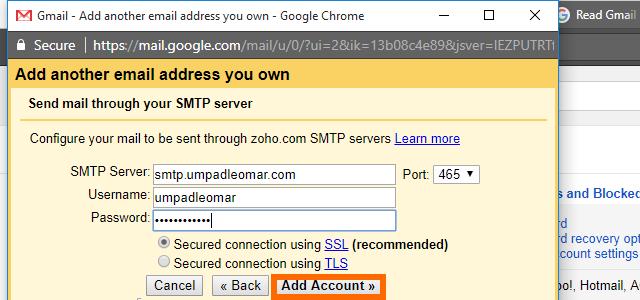 11. Gmail - SMTP details