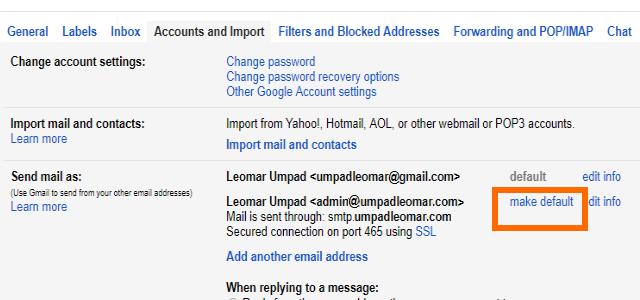 13. Gmail Add Custom Domain Make Default Mail
