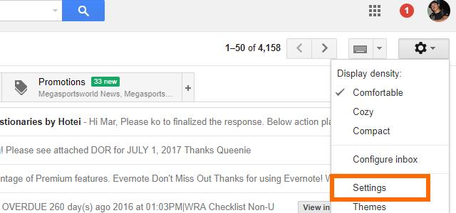 3. Gmail Settings
