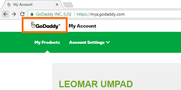 Godaddy Home Page Link