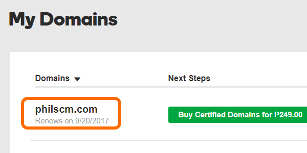 Godaddy Choose Domain Name