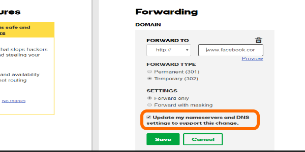 Godaddy Domain Nameservers and DNS Adjustment