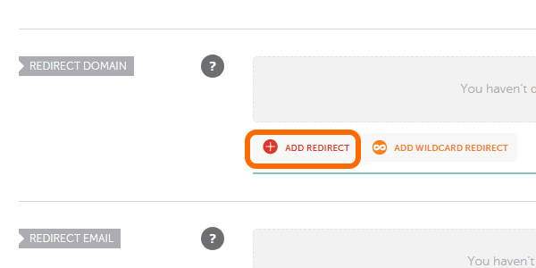 NameCheap Add Redirect