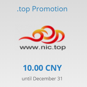 .top promotion at RRPproxy