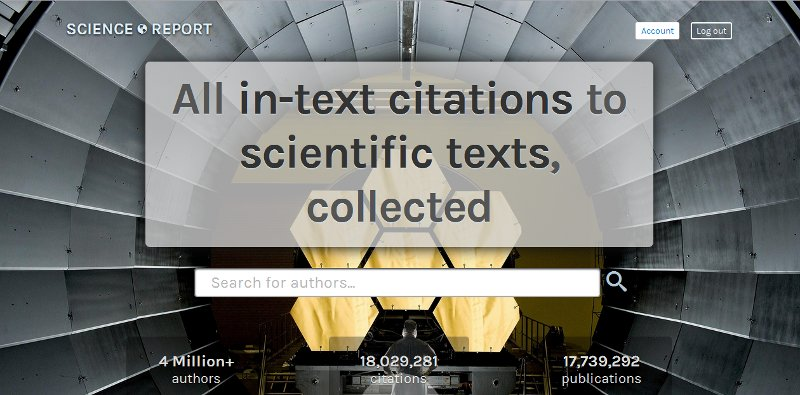 Homepage of Science.Report
