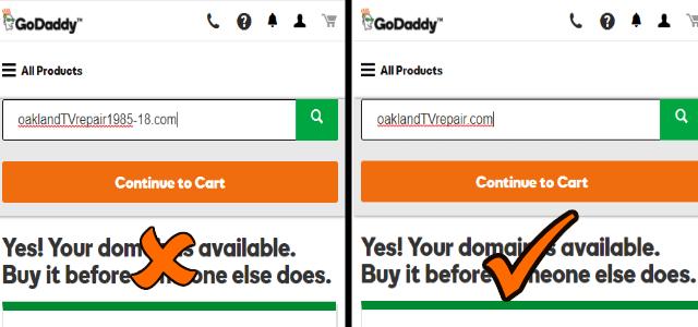 Bad and Good Domain Names