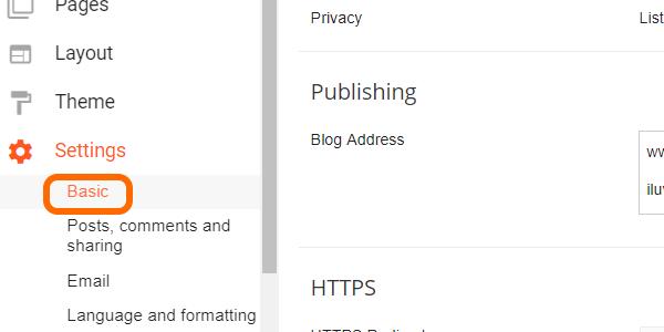 Customized Domain Settings Basic
