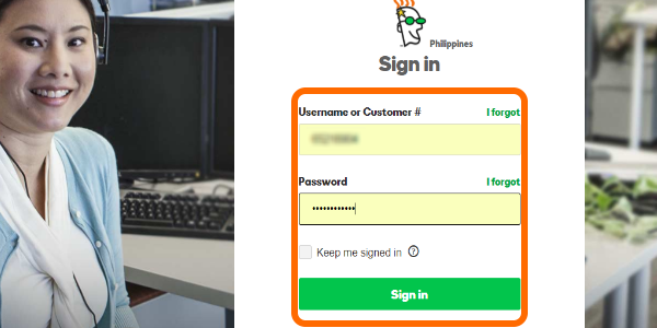 GoDaddy Sign In Button