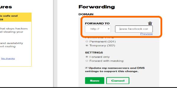 Godaddy Domain Forwarding Website