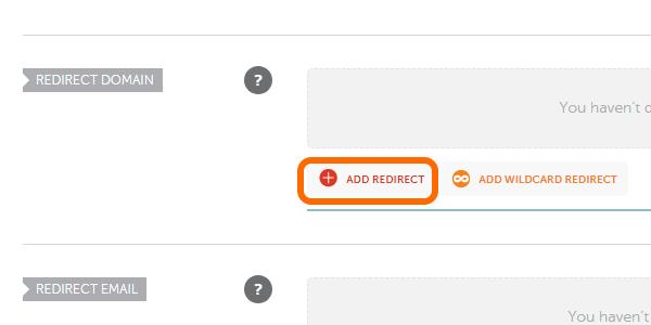 NameCheap Add Redirect